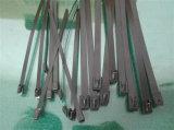 Volledig pvc bedekte de MultiBand van de Kabel van het Roestvrij staal van de Ladder van Weerhaken met een laag