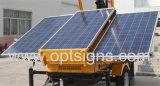 유압 드는 건축 LED 태양 이동할 수 있는 등대