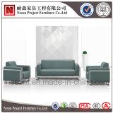 Sofá usado escritório do couro da tela do lazer do frame do metal (NS-D062)