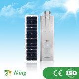 luz de rua 25W solar Integrative toda em um lúmen elevado