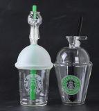 Tubulação de água de vidro de Starbuck dos tamanhos quentes da alta qualidade três do Sell por Czshining Vidro