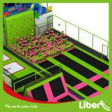 Розовый симпатичный парк Trampoline с приложением сети безопасности