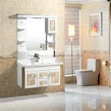 Шкаф зеркала ванной комнаты PVC раковины гостиницы одиночный