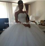 Vestido de bola del amor del vestido nupcial de Puffy Vestidos cristales de boda L1534