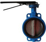 Válvula de mariposa de la oblea EPDM de la fábrica de China en alto rendimiento