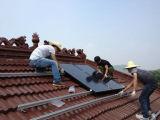 Système solaire de bride de tuile de la couleur W1 de toit en acier de picovolte