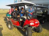 ゴルフ牧草地のおかしなゴルフ用品4seatハンチングカート