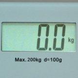 200kg / 50g electrónica de pesaje corporal escala negro