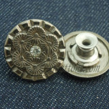 女性デニムのためのカスタムジーンズの摩耗の金属ボタン