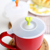 カスタムシリコーンの美しい昇進の卸し売りFood-Grade安全シリコーンのコーヒーカップのふた