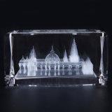 3D Decoratie van het Bureau van de Kubus van de Herinneringen van het Glas van het Kristal van de Laser Architecturale Model