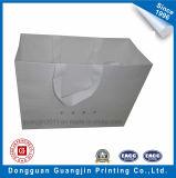Sacchetto di acquisto bianco della carta kraft Di alta qualità con il reticolo impresso