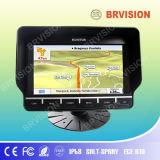 Caminhão/barramento que segue o monitor da navegação com a câmera resistente de IP69k