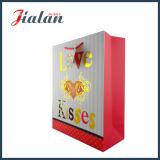Le logo estampé de estampage chaud Womans d'or de ventes en gros portent le sac de papier