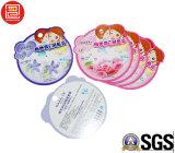 Cartão de impressão de papel com óleo de bolha para brilho labial, impressão de cartão de papel agradável para produtos cosméticos