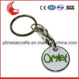 Kundenspezifische MetallEinkaufswagen-Laufkatze-Scheinschlüsselring für förderndes