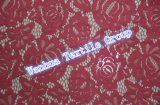 Tessuto elastico del merletto del Crochet di ultimo disegno 2016 per il vestito dal merletto