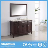 Мебель ванной комнаты дуба американского типа превосходная классицистическая с 2 тазиками (BV162W)