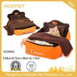 Haustier-Bett-Hersteller-Kissen-Zudecke-Bettwäsche-Set, Qualitäts-Katze-kleines Hundebett