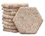 Чисто естественная звукоизоляционная плита деревянных шерстей