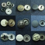Metal Buttons Fabricante: Jeans Snap Fasteners Shank Zinc Alloy Rhinestone Steel Iron Buttons