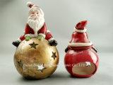 De ceramische Houder van de Kaars van de Kerstman voor de Decoratie van het Huis