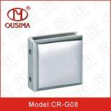 Braçadeira de vidro da fixação do banheiro do quadrado da liga do zinco (CR-G06)