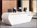 Bureau de réception en surface solide personnalisé en pierre artificielle