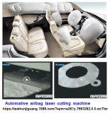 Máquina de estaca de nylon do laser da bolsa a ar da tela especial da indústria para automotriz
