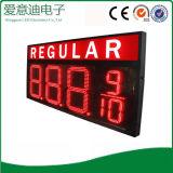 Sinal regular do preço do dígito do gás do diodo emissor de luz da cor vermelha