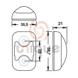 물 Proof Side Marker Lamp 또는 Light