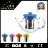 POT all'ingrosso del tè della teiera di vetro di Borosilicate di Handblown con la maniglia di plastica