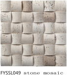 Mosaico de piedra natural para la televisión fondo de la pared (FYSSL049)