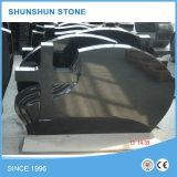 La pietra tombale nera dello Shanxi con il fiore personalizzato Deign