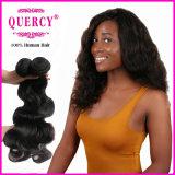 Les cheveux humains brésiliens cousent en armure, extensions brésiliennes de cheveu de vente en gros, extensions noires de cheveux humains de qualité