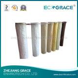 Chaussette de filtre de tissu filtrant de fibre de verre de garantie de qualité