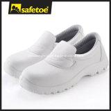 Cleanroom обувает безопасность, белое выскальзование на обуви безопасности, ботинках L-7019 нюни