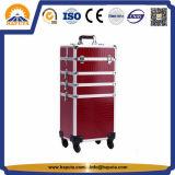 미용사 알루미늄 메이크업 장식용 트롤리 상자 (HB-3320)