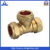 Ajustage de précision de pipe en laiton de té de compactage pour l'ajustage de précision de Pex (YD-6038)