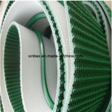 PVC深緑色か黒く荒い上パターン傾斜のコンベヤーベルト