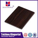 Panneau composé en aluminium d'ACP de texture en bois pour Clading extérieur ou intérieur