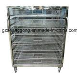 Carro da cesta que pré-aquece forno de secagem