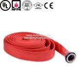 Pipe de débit de l'eau de boyau flexible d'arroseuse d'incendie de toile