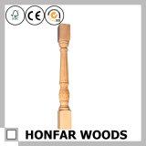 Asta della ringhiera materiale della scala di legno solido della decorazione per l'hotel o la locanda