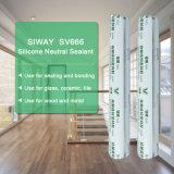 Puate d'étanchéité extérieure neutre superbe de silicones pour la porte et le guichet en métal
