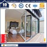 Porte en verre de devanture de magasin de qualité en aluminium extérieure moderne de porte