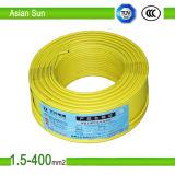 cabo de fio flexível Thhn/BV/Bvr da isolação de cobre do PVC do núcleo 450/750V