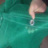 Redes plásticas verdes da rede da máscara usadas na agricultura e na construção