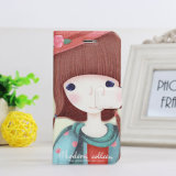 Cute encantador Silk Print Cartoon Leather Caso para el iPhone 6