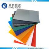 L'abitudine colora lo strato vuoto del tetto del policarbonato con la protezione UV